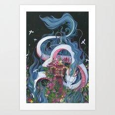 Haku Art Print