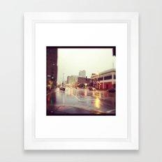Minneapolis Rainy Day Framed Art Print