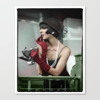 Vintage flapper from the 1920's Canvas Print