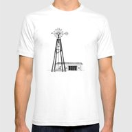 Old Barn Mens Fitted Tee White SMALL