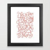 Rad Lines Framed Art Print