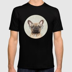Mr French Bulldog Mens Fitted Tee Black SMALL