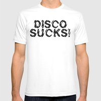 Disco Demolition Night Mens Fitted Tee White SMALL