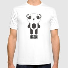 Kawaii Panda White Mens Fitted Tee SMALL