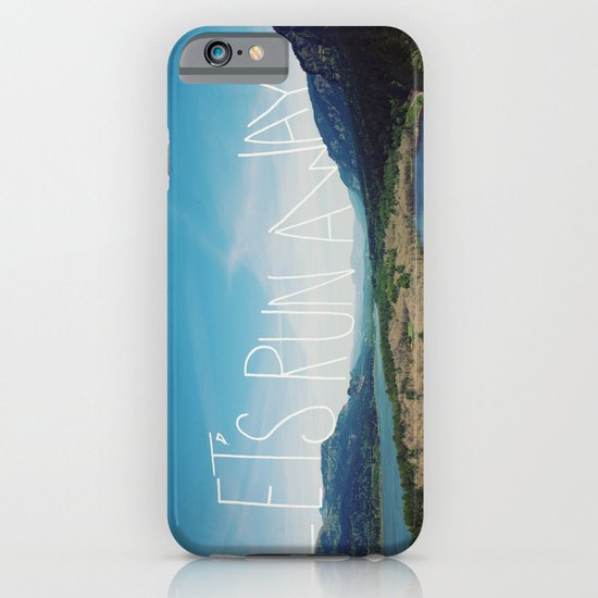 Let's Run Away: Columbia Gorge, Oregon iPhone & iPod Case