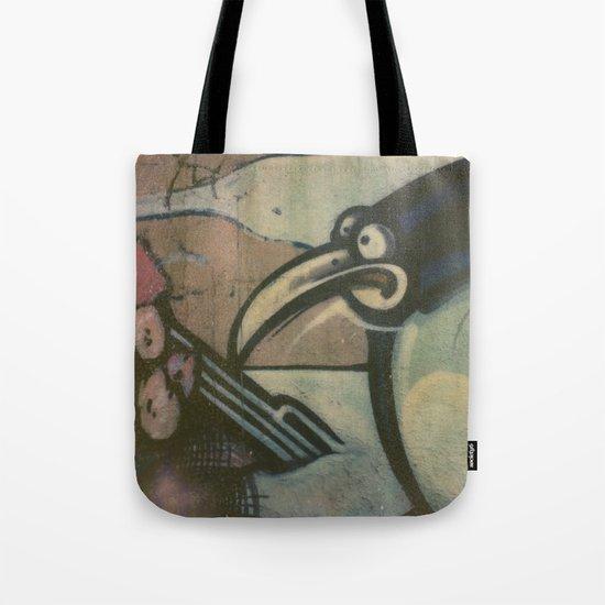 Penguin Graffiti Tote Bag