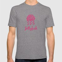 Jellyfish Pink Mens Fitted Tee Tri-Grey SMALL
