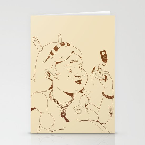 Alice stuck in the wonderland ! Stationery Card