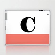 Monogram Letter C-Pantone-Peach Echo Laptop & iPad Skin