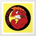 Join the hellfish Art Print