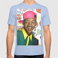 Fresh Prince Of Bel Air … Mens Fitted Tee Tri-Blue SMALL