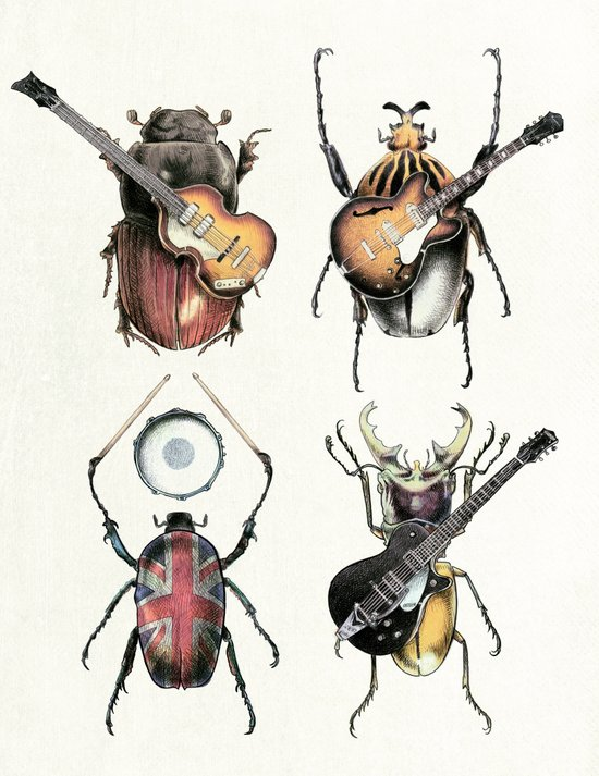 Meet the Beetles (white option) Art Print