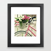Pink Bike Framed Art Print