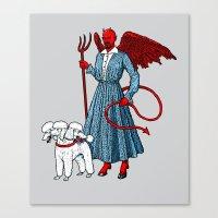 Devil With A Blue Dress … Canvas Print