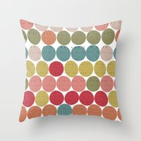 Tribal Dots Throw Pillow