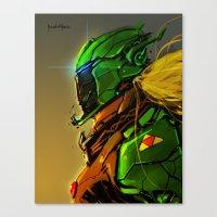 Legend of Zelda Link Cyber evolution Fan Art Canvas Print