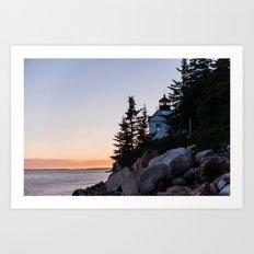 bass harbor head lighthouse, acadia national park Art Print