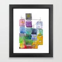Rainbow Village 2 Framed Art Print