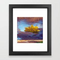 Spring in a puddle! Framed Art Print