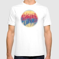 Sunset Curves SMALL Mens Fitted Tee White