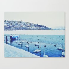 Frozen Lake of Kastoria Canvas Print