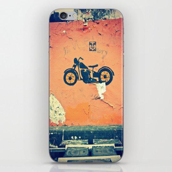 Motorcycle street art iPhone & iPod Skin