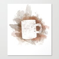 Coffee Stain Canvas Print