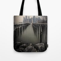 Misty Manhattan Morning Tote Bag