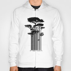 Barcode Trees illustration  Hoody