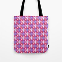 Watercolor Geometry Mod Pink Tote Bag