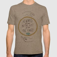 Ring Finger Mens Fitted Tee Tri-Coffee SMALL