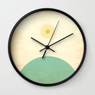Wall Clock featuring New Day by Tammy Kushnir