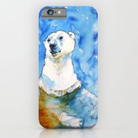 iPhone & iPod Case featuring Polar Bear Inside Water by Smog