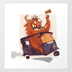 Tuk Monster Art Print