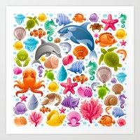 Sea Of Life Art Print