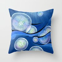 Jelly Family Throw Pillow