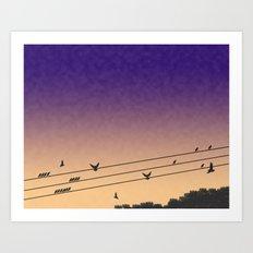 Birds On A Wire Art Print