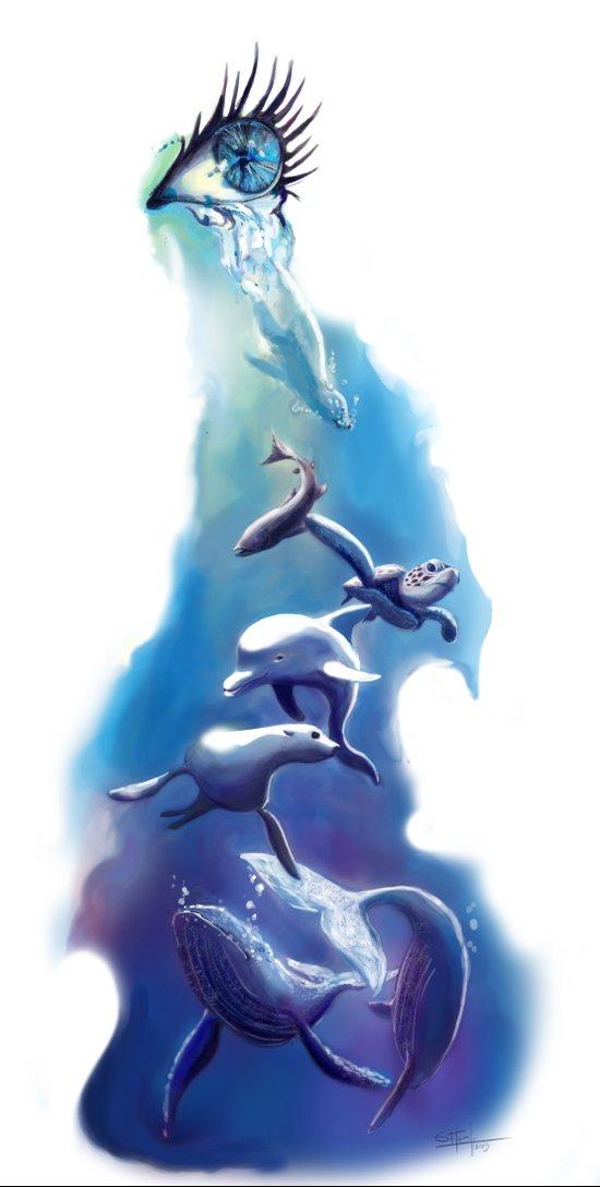 Ocean Tears Art Print