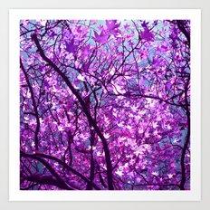 purple tree XXXIII Art Print