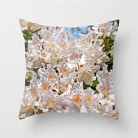 Avalanche of flowers Throw Pillow