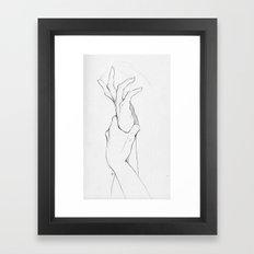 Another Hand Sketch Framed Art Print