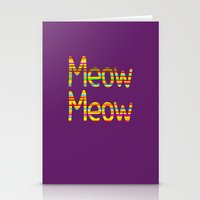 Meow Meow (in color) Stationery Cards