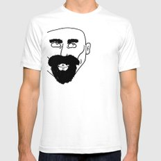 beard White Mens Fitted Tee SMALL
