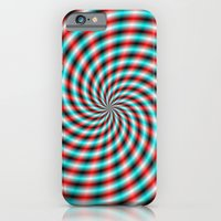 Turquoise And Red Spiral… iPhone 6 Slim Case