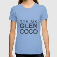 You Go Glen Coco - Mean … Womens Fitted Tee Tri-Blue SMALL