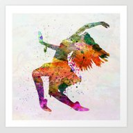 Dancing To The Night  Art Print