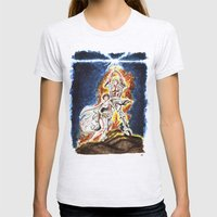 STAR WARS: A New Hope Watercolor Womens Fitted Tee Ash Grey SMALL