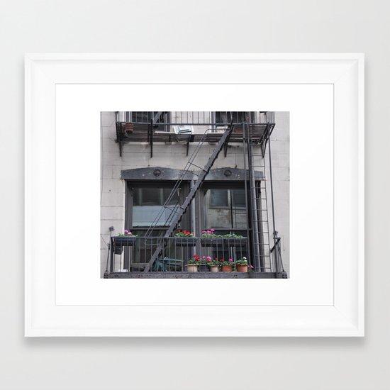 Spring Downtown Framed Art Print