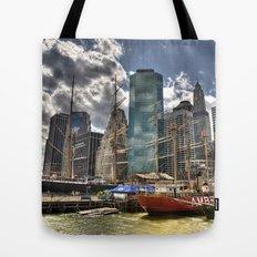NYC Harbor, south seaport Tote Bag