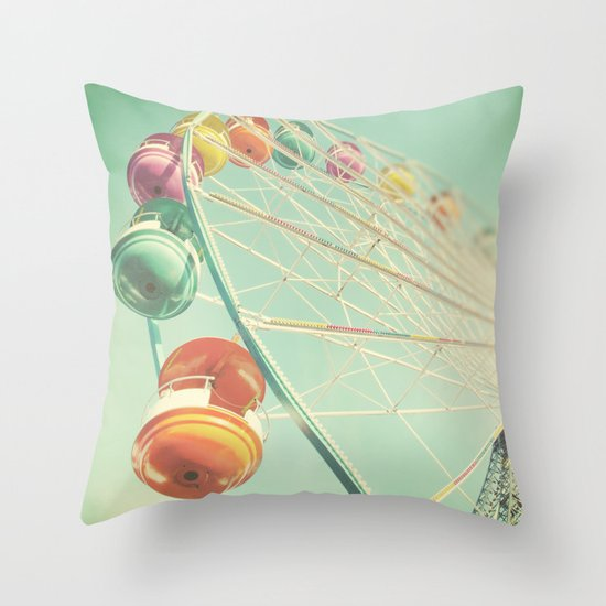Rainbow Wheel Throw Pillow
